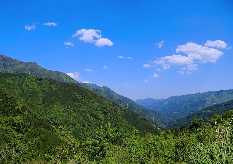 大座礼山から見た青空
