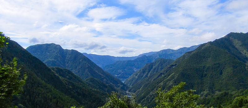 大川村の山並み