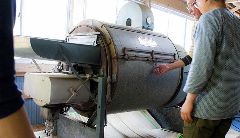 玉緑茶:乾燥ドラム