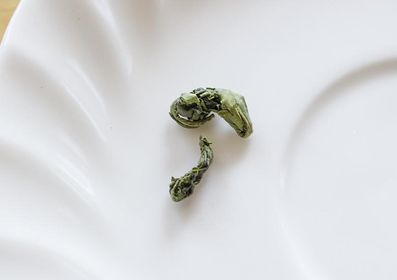 勾玉状の玉緑茶