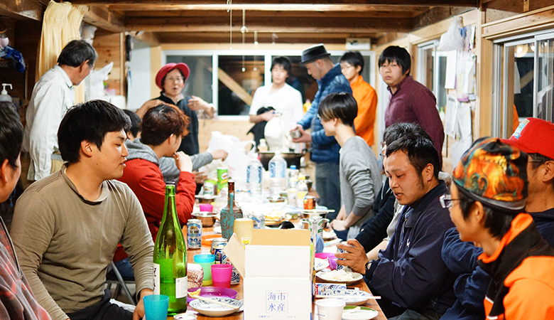 【大川村さくら祭】作業が終わったら宴会!