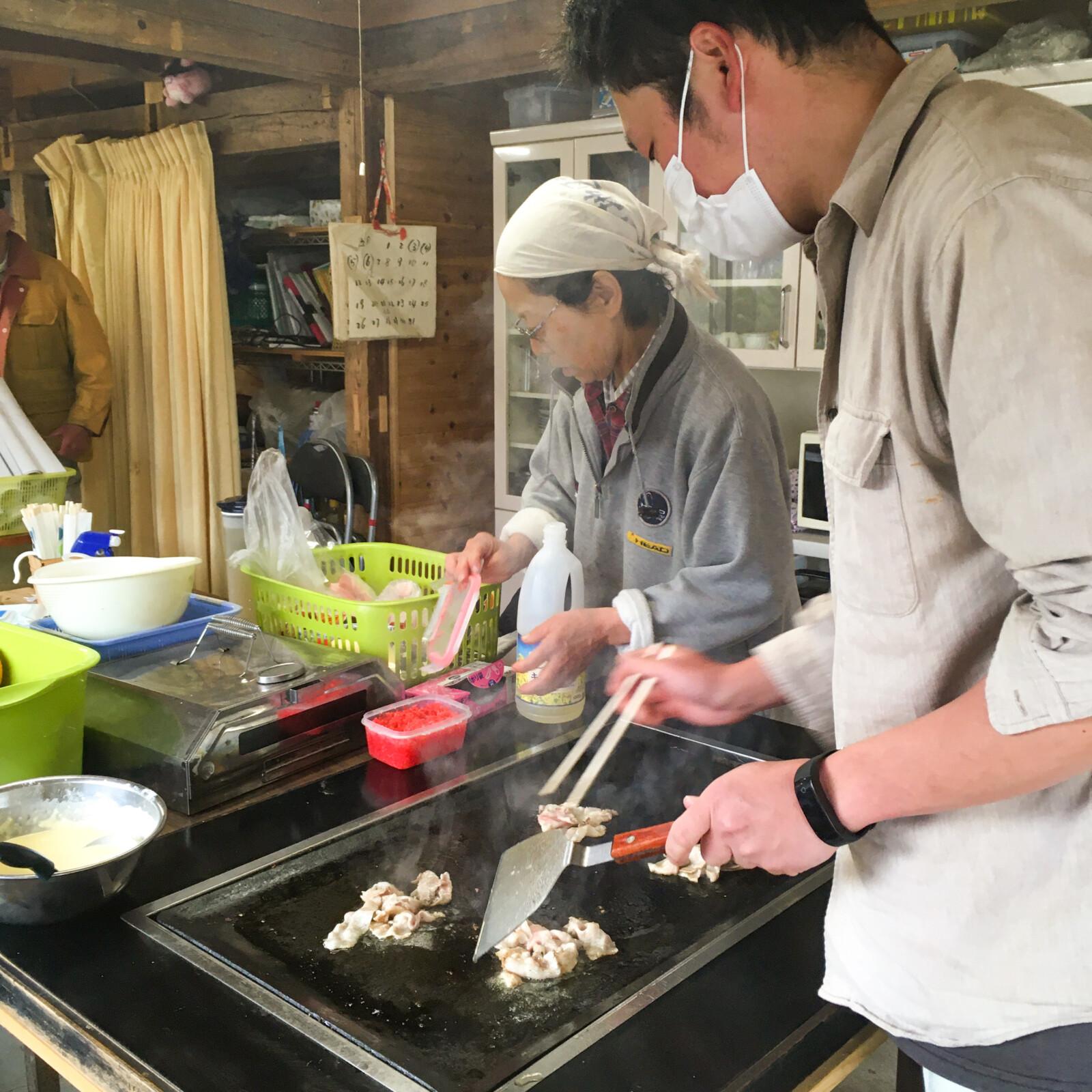 大川村さくら祭準備