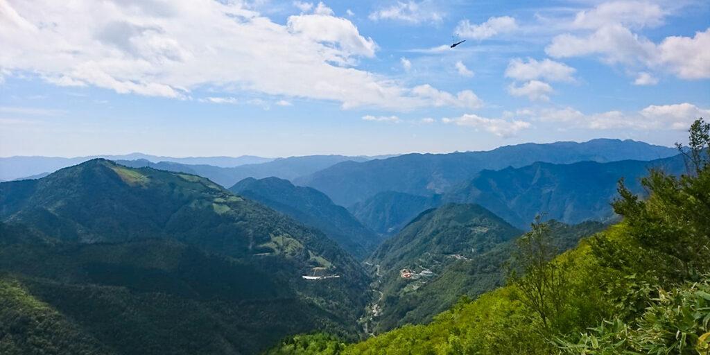 【野地峰】白滝方面の眺め