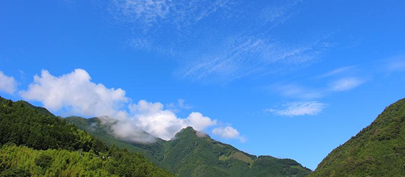 大川村の青空