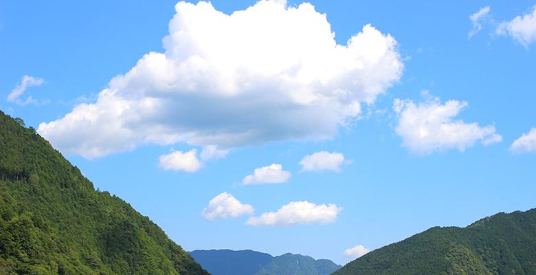 大北川から見た山々(夏)